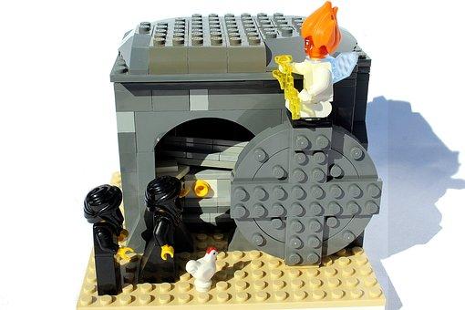Lego, Mini Figures, Easter, Rock, Grave, Resurrection