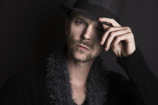 Man, Serious, Face, Thinking, Expression, Hat, Black