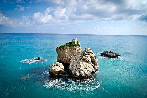 Cyprus, Mediterranean, Landscape, Sea, Stone, Nature