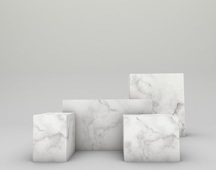 Mockup, Marble, Standard, Stand, Product, Marketing