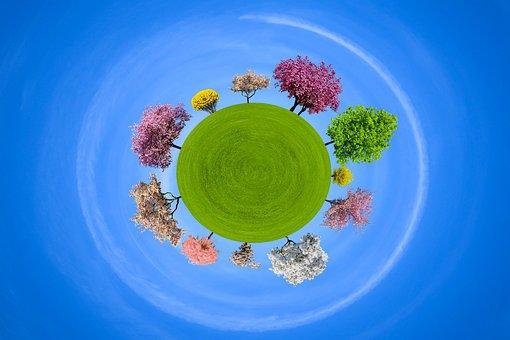 Background, Nature, Round, World, Round The World