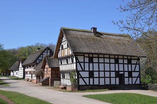 Lvr Kommern Open-air Museum, Old Houses, Barns, Farm