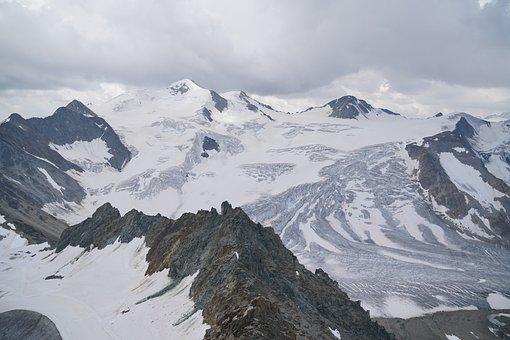 Mountains, Landscape, Pitztal, Glacier
