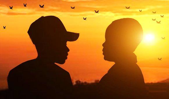Sunset, Couple, Love, Romantic, Romance, Kiss