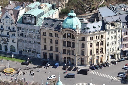 Karlovy Vary, Building, Architecture, Hotels, Spa