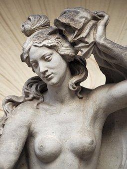 Topless, Sculpture, Statue, Figure, Stone Sculpture