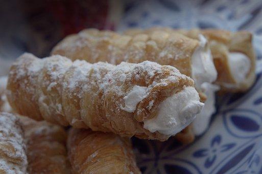 Cannolis, Dessert, Sweetness, Baking, Sugar, Sweet