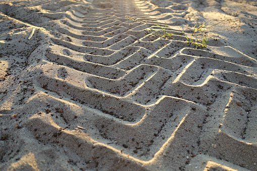 Tire Tracks, Profile, Imprint, Trace, Vehicle, Tractor