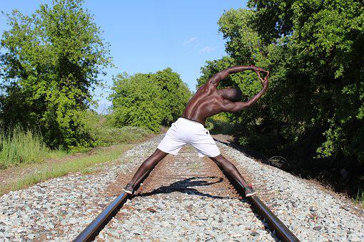 Black Man, Male, Muscles, Train Track, Workout, Strong