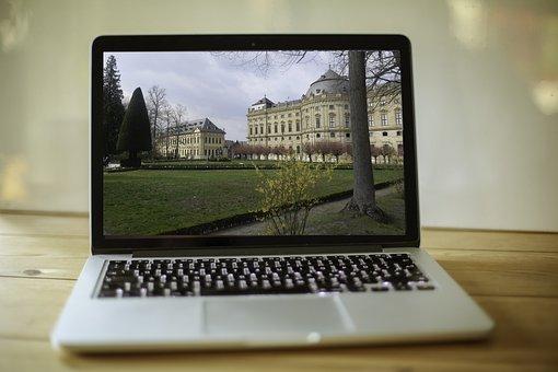 Macbook, Workplace, Mac, Computer, Travel, Würzburg