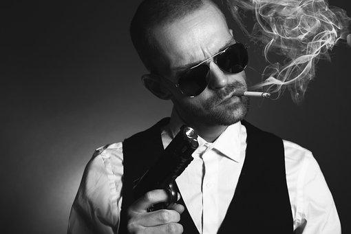 Gangster, Man, Mafia, Criminal, Spy, Crime, Gun, Angry