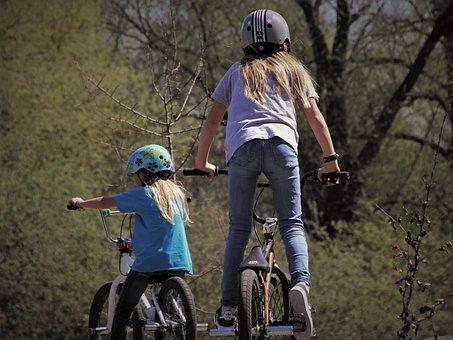 Bmx, Sisters, Bike, Bikepark, Hijacker Miles, Young