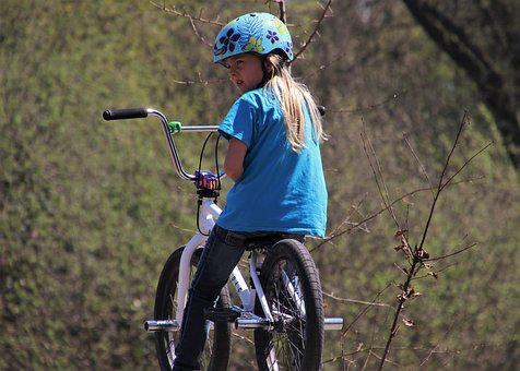 Bike, Bmx, Skate Park, Helmet, Adventure, Biker, She
