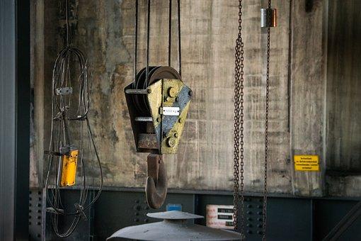 Crane Hooks, Machine, Industrial Plant, Bill, Hall