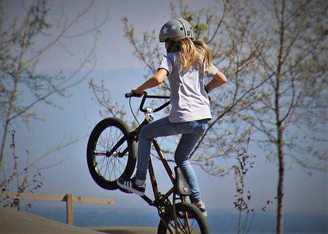 Bmx, The Trick, Bike, Cycle, Horse, The Silhouette
