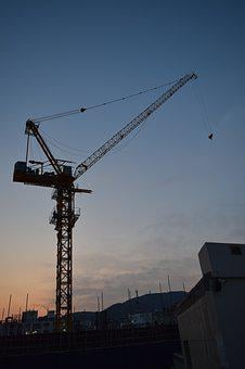 Crane, Construction Trades, Night