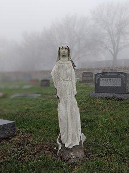 Grave, Angel, Saint, Statue, Memorial, Cemetery, Death