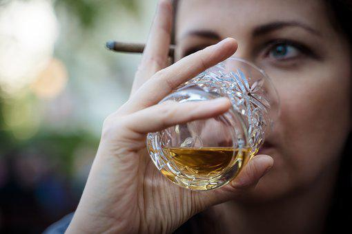 Whiskey, Rum, Spiritouse, Woman, Addiction, Drink