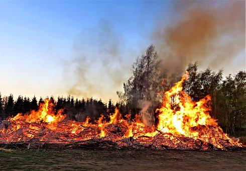 Easter, Easter Fire, Customs, Tradition, Wood Fire