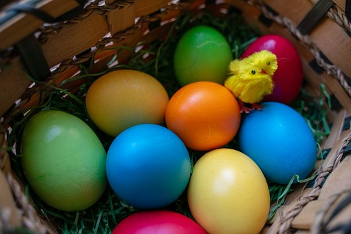 Easter Eggs, Osterkorb, Easter, Easter Nest, Egg