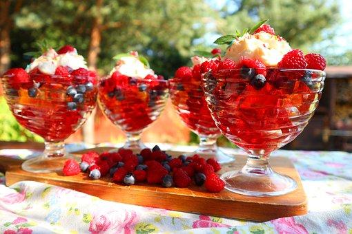 Summer, Eating, Dessert, Jelly, Fruit, Tasty, Nature