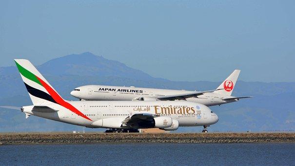 Uae, Planes, Emirates, Airbus A380, Jumbo Jet, Dubai