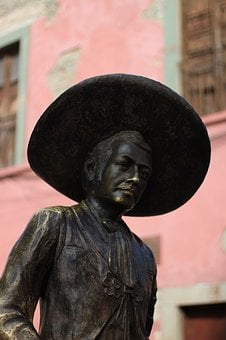 Fixed, Mexico, Historically, Sculpture, Figure, Statue