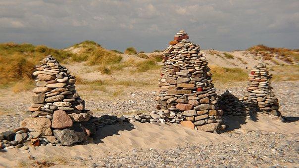 Beach, Stones, Coast, Stone, Helgoland, Dune, North Sea