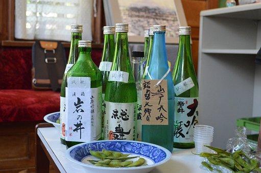 Sake, Japan, Alcohol, Edamames, Asia, Tokyo