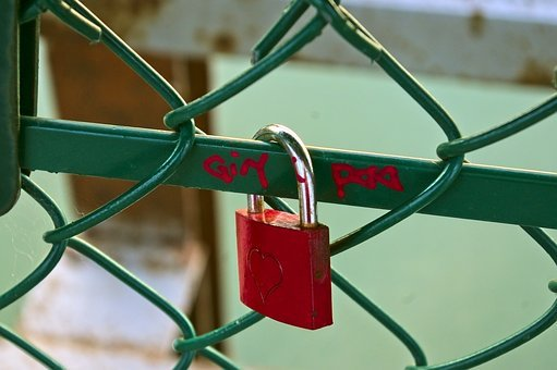 Red Love Lock, Love, Padlock, Heart, Friendship, Lock