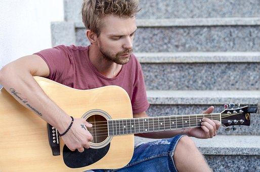 Guitar, Man, Music, Musician, People, Sad, Guitarist