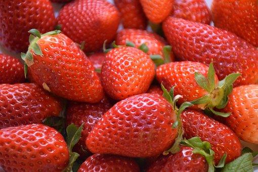 Strawberry, Erdbeeren, Fruit, Spring, Sweet, Mature