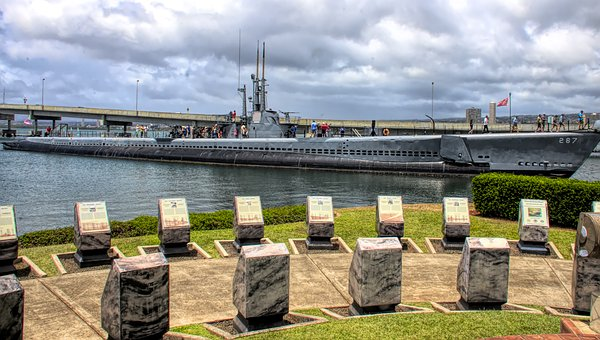 Memorial, Submarine, Navy, Pearl Harbor, Monument, Sea