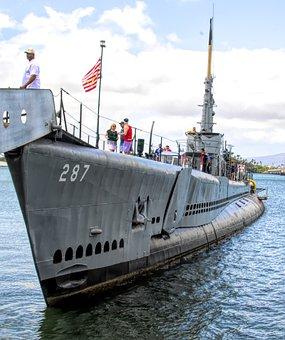 Submarine, Sub, Navy, Periscope, Military, Sea, Boat