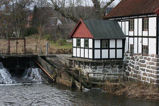 Water Mill, Sæby, Old, Bindeværk, History, Mill