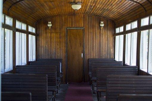 Train, Depth, Old, Railway, Seats, Travel, Wagon