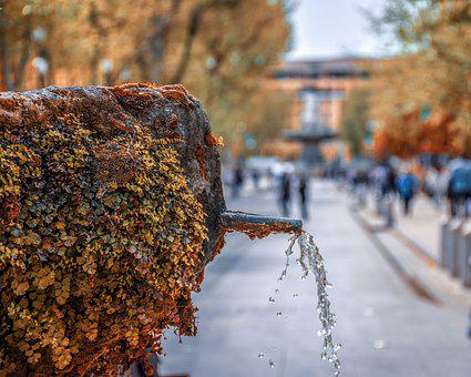 Fountain, Spout, Water, Provence, France