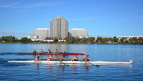 San Francisco, Foster City, Rowing, Coxwain, Lake
