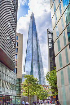 Shard, London, England, Skyscraper, City, Architecture