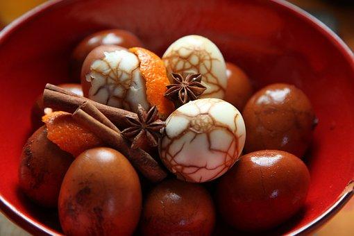 Easter, Eggs, Spring, Egg, œuf, Eggs Marbled, Spices
