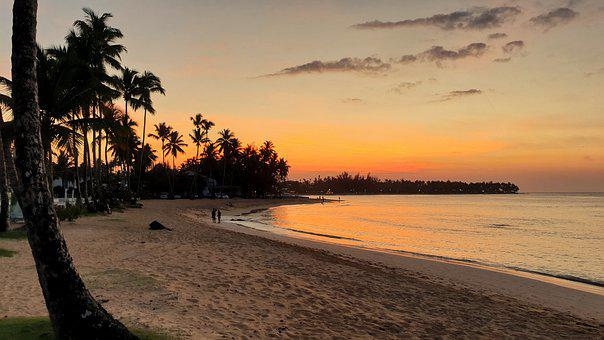 Dominican Republic, Beach, Sunset, Las Terrenas