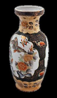 Vase, Tile, Ceramic, Tiles, Fancywork, Decorative