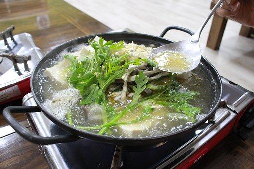 Korean, Tofu Pot, Bob, Dining, Cooking, Delicious