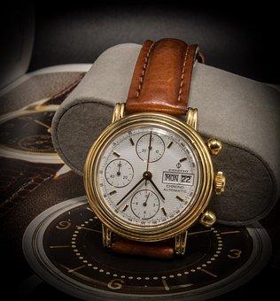 Chronograph, Wrist Watch, Valjoux, Clock, Automatic
