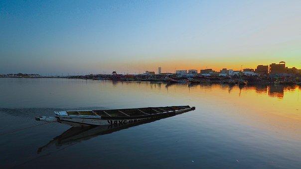 Watch Not Dar, Saint-louis, Senegal, Sunset
