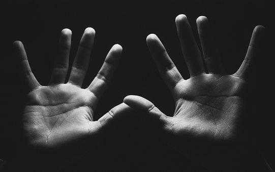 Hands, Darkness, Sadness, Anxiety, Fear, Seek Help