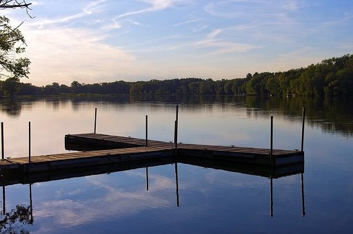 Beeds Lake Dock, Lake, Pier, Water, Nature, Sky