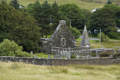 Cemetery, Old, Abandoned, Ruin, Clans, Isle Of Skye