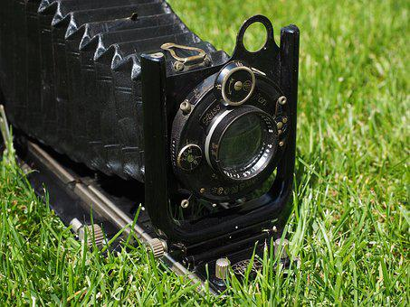 Folding Camera, Camera, Old, Compur, Zeiss, Lens