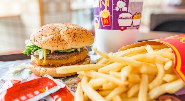 Burger, Fries, Hamburger, Food, Fat, Cheeseburger